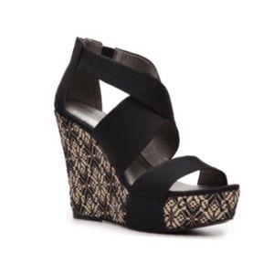 Audrey Brooke Wedge Sandals